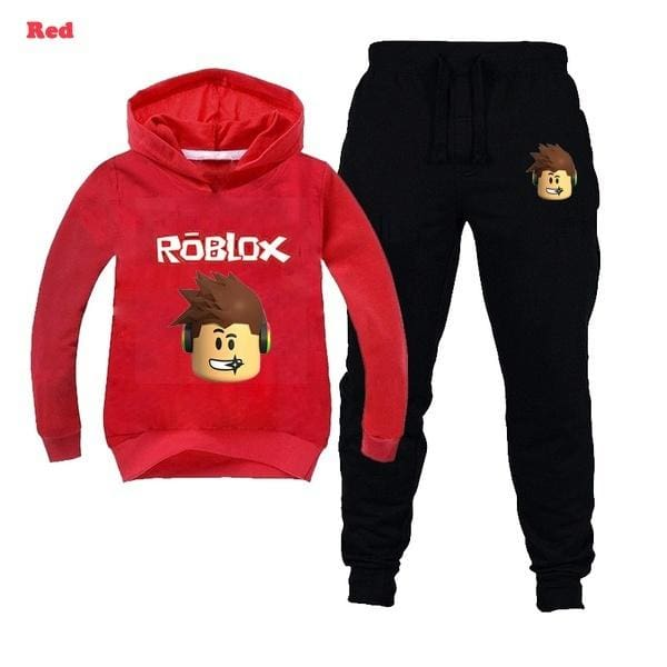 Red And Blue Pants Roblox 6 14t Roblox Boy Kid Fashion Casual Hoodie Red Black Blue
