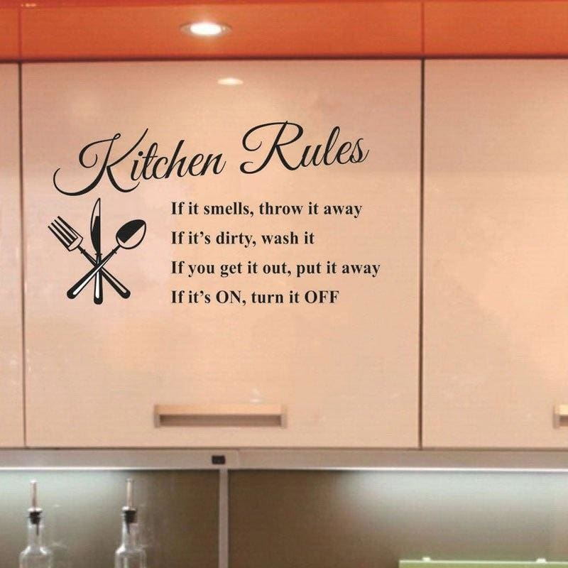 AM/_ KITCHEN LETTER REMOVABLE VINYL WALL STICKERS MURAL DECAL QUOTES HOME DECOR S