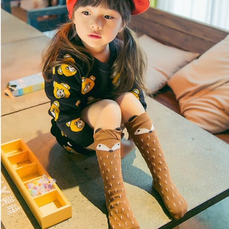 Lovely Girls Knee High Socks School With Bow children Toddler kids All Size