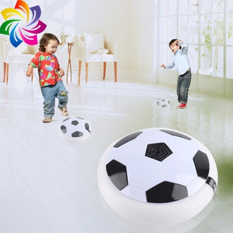 LED Lights Childrens Toy Electric Hover Ball with Football Door Kids Indoor Safe Fun Floating Foam Soccer Can Broadcast World Cup Music