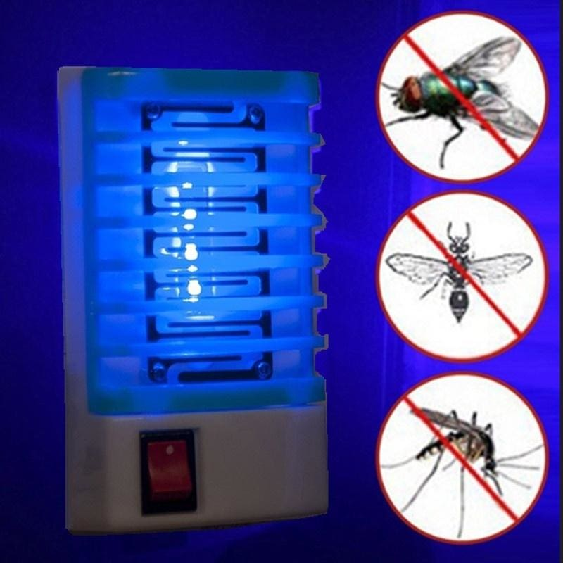 LED Socket Electric Mosquito Bug Insect Trap Killer Zapper Night Lamp Lights UK