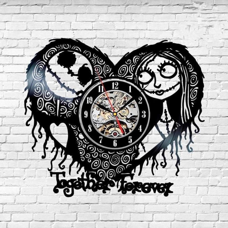 Skull Music Art LED Vinyl Record Wall Clock Decorate Home Fashion Wall Clock