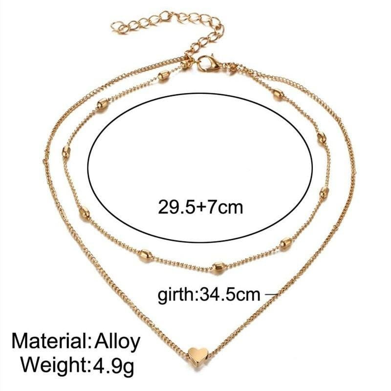 34 Styles Bohemain Pendant Chain Necklace For Women Multi Layer Choker Necklaces