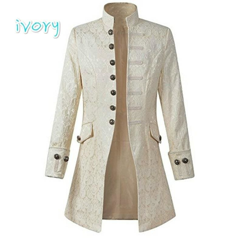 8 Colours Fancy Mens Steampunk Gothic Tailcoat Multi Color Jacket Victorian Styl