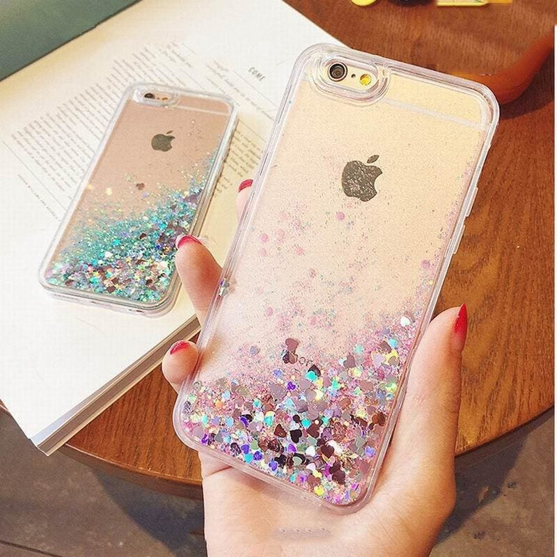 Dynamic Liquid Glitter For Funda iphone 7 case Bling Quicksand