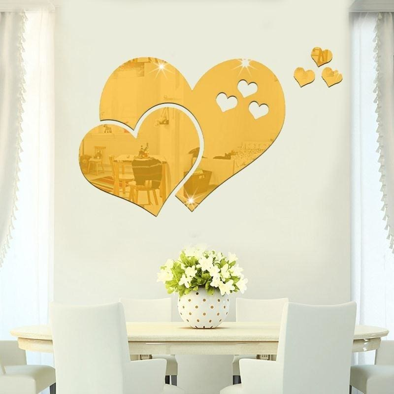 3D DIY Mirror Home Room Square Mirror Face Tile Wall Stickers Decal Mosaic Decor
