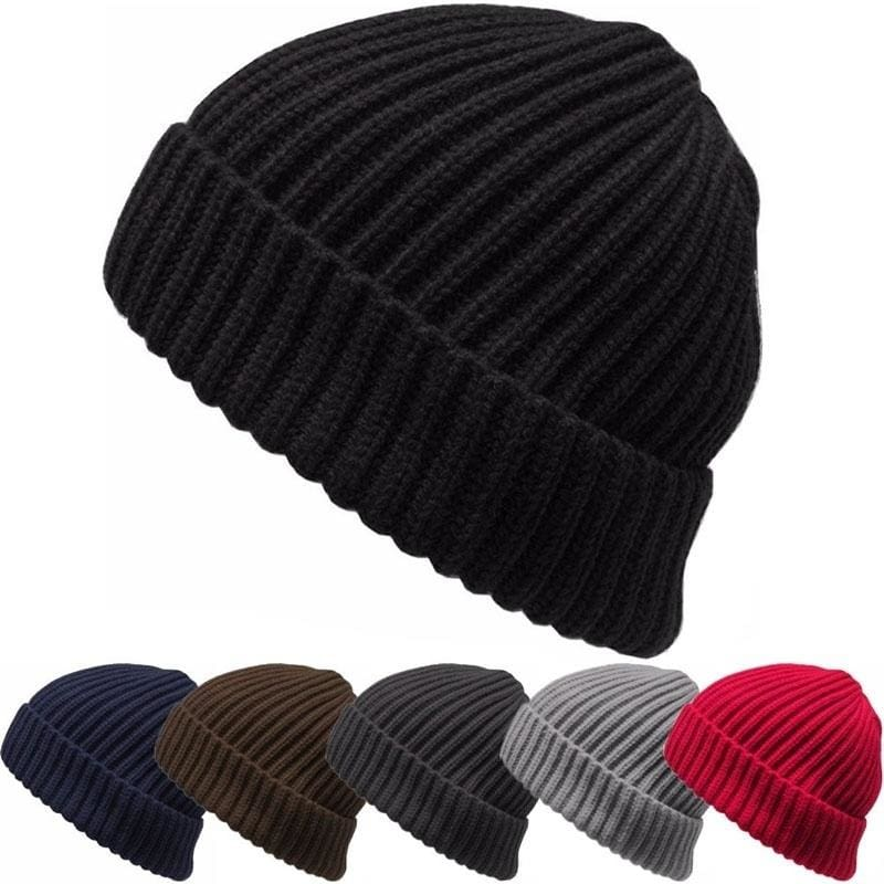 Men Women Unisex Knit Baggy Beanie Winter Warm Hat Ski Slouchy Chic Knitted Cap