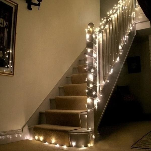 COOL WHITE 10m 33ft 100 LED Light String 8 Modes Tail Plug Holiday Decoration