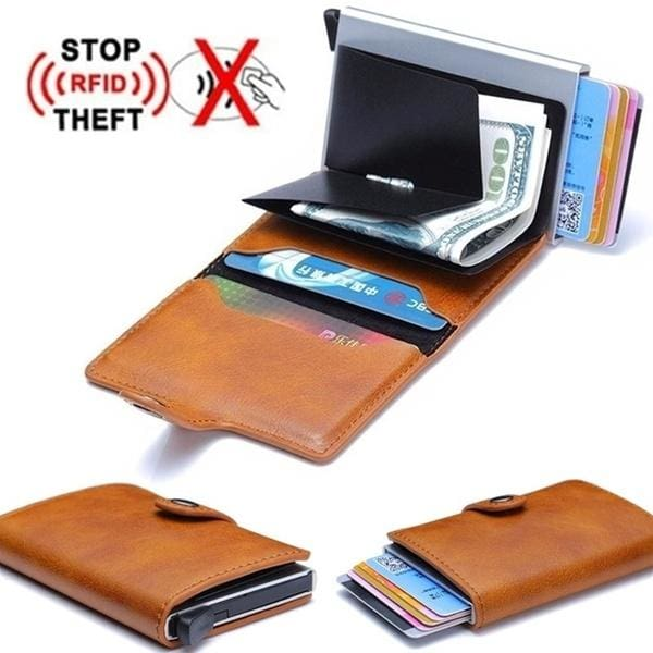 Vintage Men/'s Clip Credit Card ID Card Paper Money Bag Business Holder Case