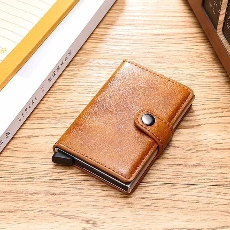 Leather Mens Money Clip Front Pocket Wallet-New