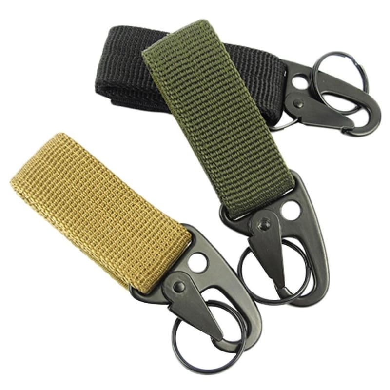 Military Tactical Belt Nylon Carabiner Key Molle Buckle Hook Strap Clip