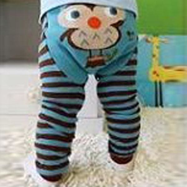 Striped Love Baby Toddler Tight Long Pants Leggings Christmas Kids Heart Cotton