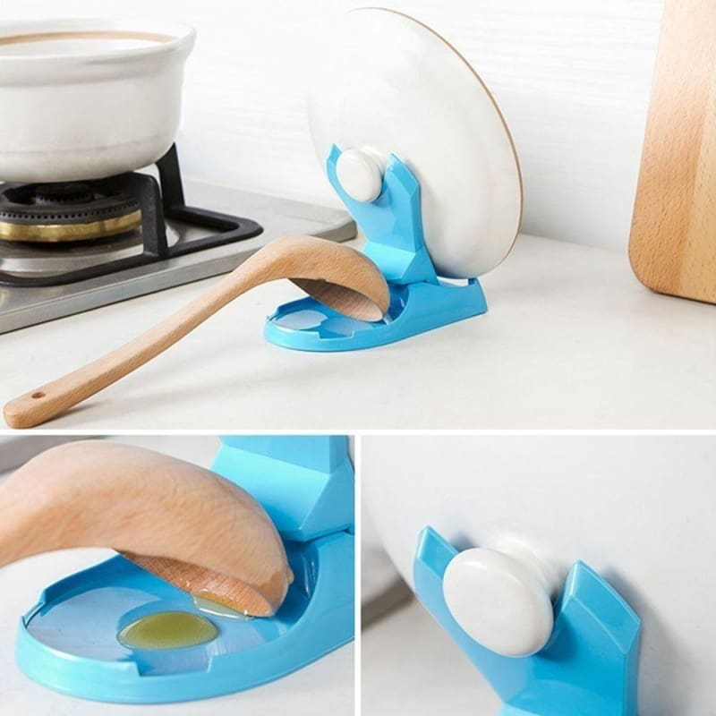 Spoon Pot Lid Shelf Cooking Storage Holder Stand Home Kitchen Tools New Y