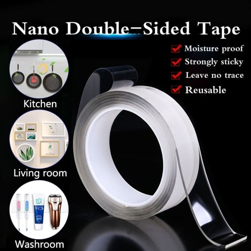 1M Multifunctional Double-Sided Adhesive Nano Tape Traceless Washable Removable