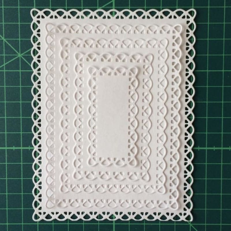 2pcs//Set Gift Box Cutting Dies Handmade Photo Album Embossing Paper Card Decor