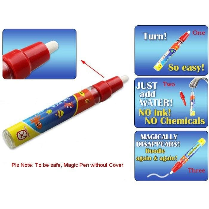 Water Drawing Painting Writing Mat Board Magic Pen Doodle Gift 29X19cm For Kids