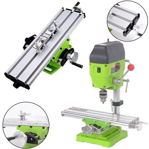 Compound Work Table Cross Slide Bench Drill Press Vise Fixture Milling Machine