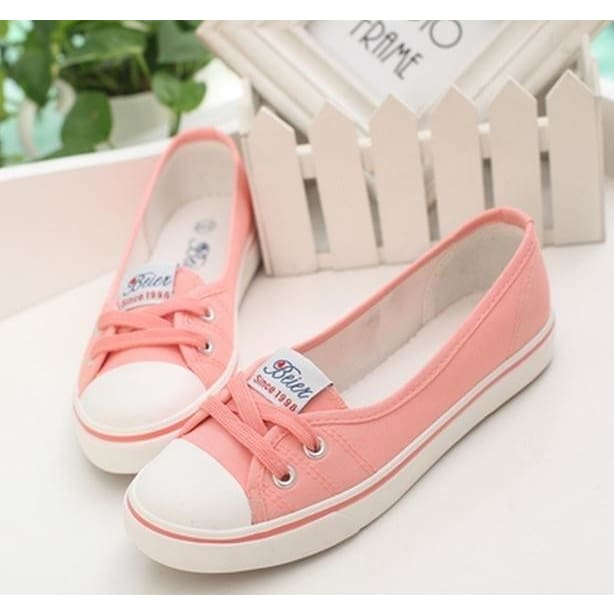 New Womens Slip On Flats Shoes Ballet Comfortable Ladies Shoe Canvas Summer