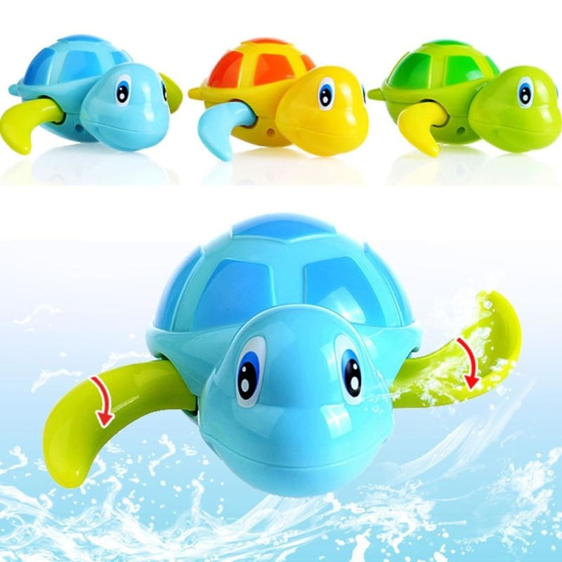 Cute Baby Kids Bath Wind-up Swimming Turtle Tortoise Pool Toys Games Acc Gift