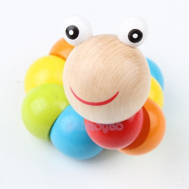 Hot Cute Baby Twist Caterpillars Wooden Toys Infant Creative Educational Gift-6A