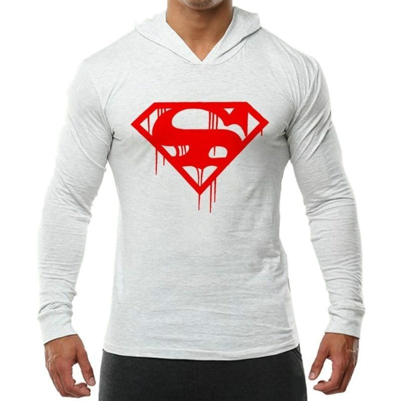 Superman hoody Casual Gym Wear bodybuilding workout training clothes top hoodie