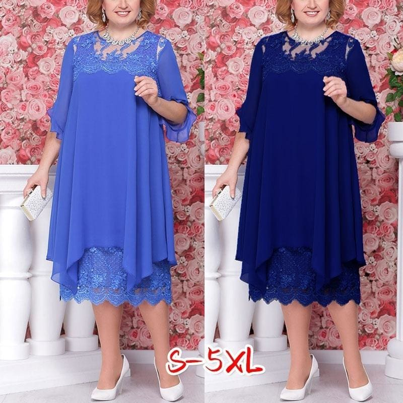 New Fashion Mother of The Bride Dress Groom Dress Lace Dress Plus Size  Dress Party Dress