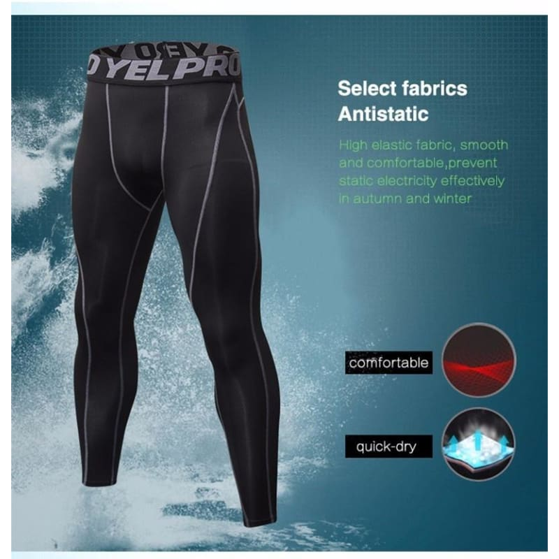New GYM Compression Bodybuilding Pantalones Hombre Fitness Tights Trousers Sweat Pants For Men Sport Running Leggings