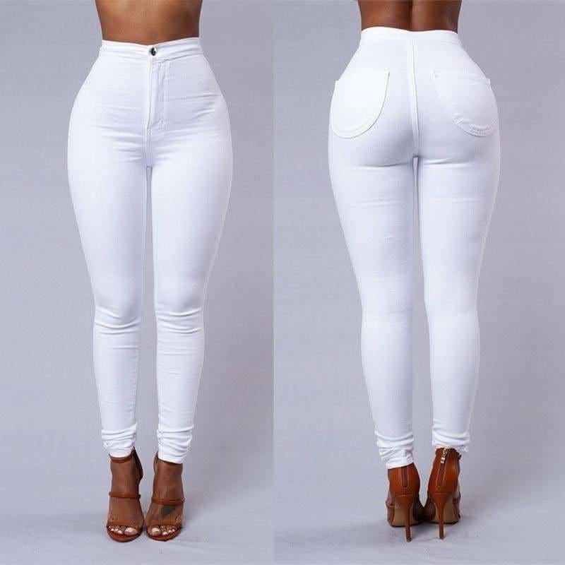 WOMEN Mid Waisted Jeans Jeggings Slim Fit Ripped Ladies Long Pants 8 10 12 14 16