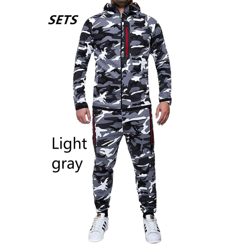 New Men Fashion 2 Parts Hooded Sweatshirt and Sport Pants Set