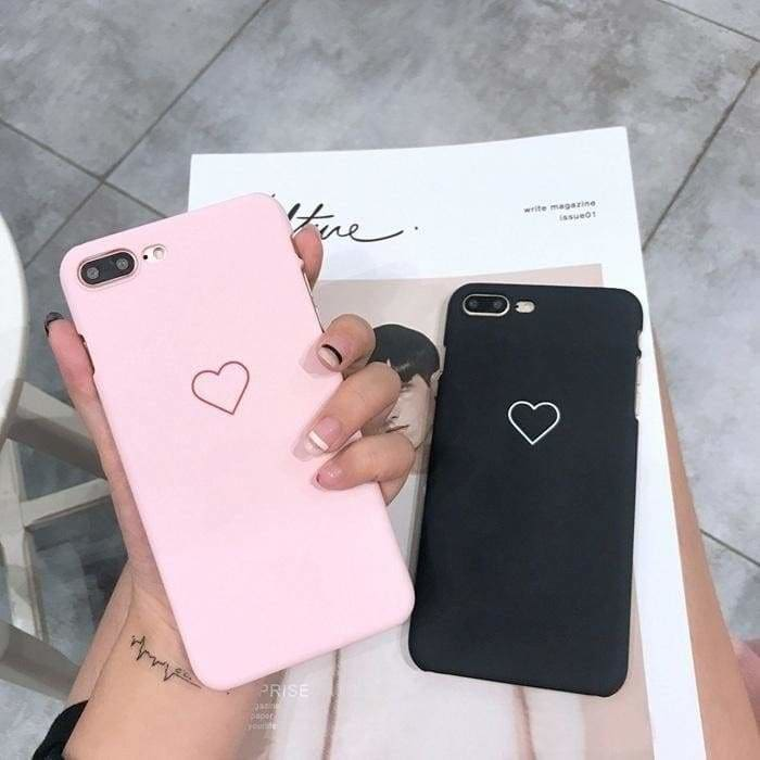 Cute Black Hearts Mobile Cover iPhone 6