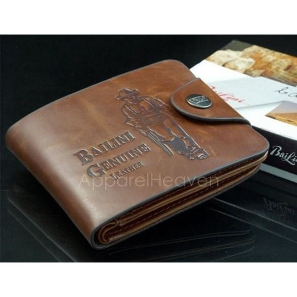 Men/'s Boys/' Classic Leather Pockets Credit//ID Cards Holder Purse Wallet Coffee