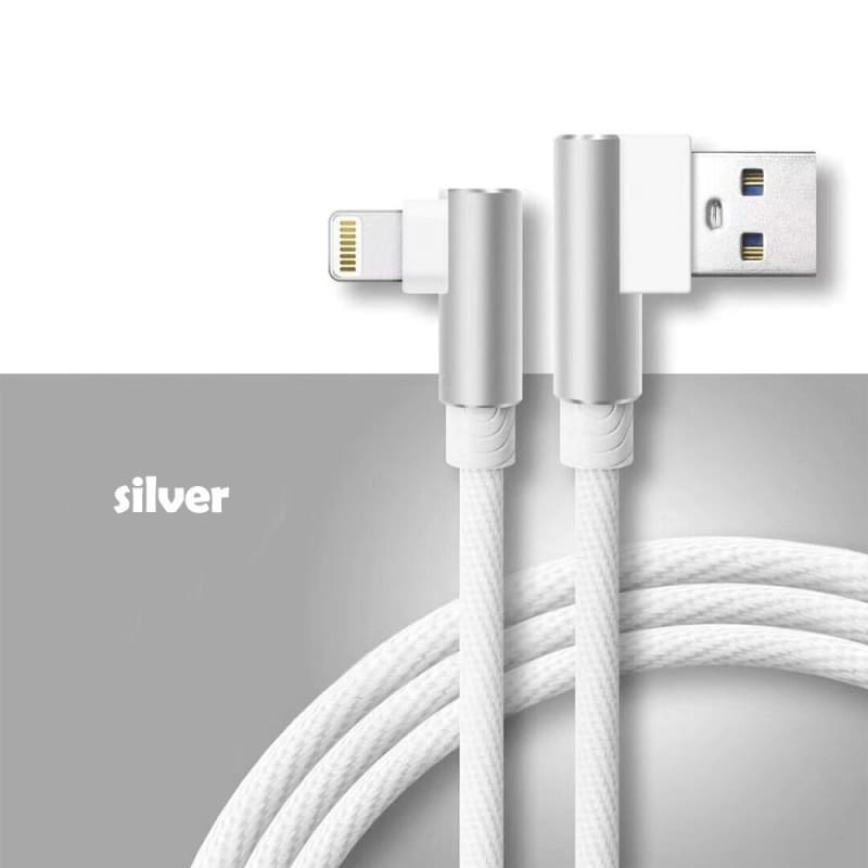 Universal L Shape 90 Degree Type-C USB 4,6,10ft Braided Charger Cable For Tablet