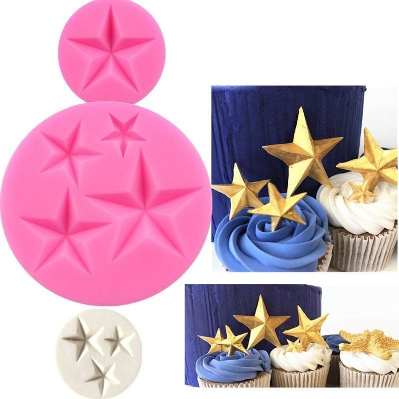 New Stars Shape Silicone Mold Chocolate Candy Molds Fondant Cake Decorating  Tools DIY Silicone Molds