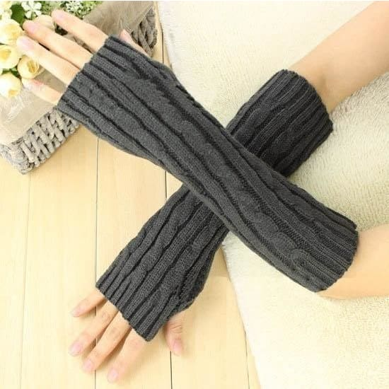 1Pair Charm Lady/'s  Arm Warmer Cozy Cotton Long Fingerless Gloves High Quality