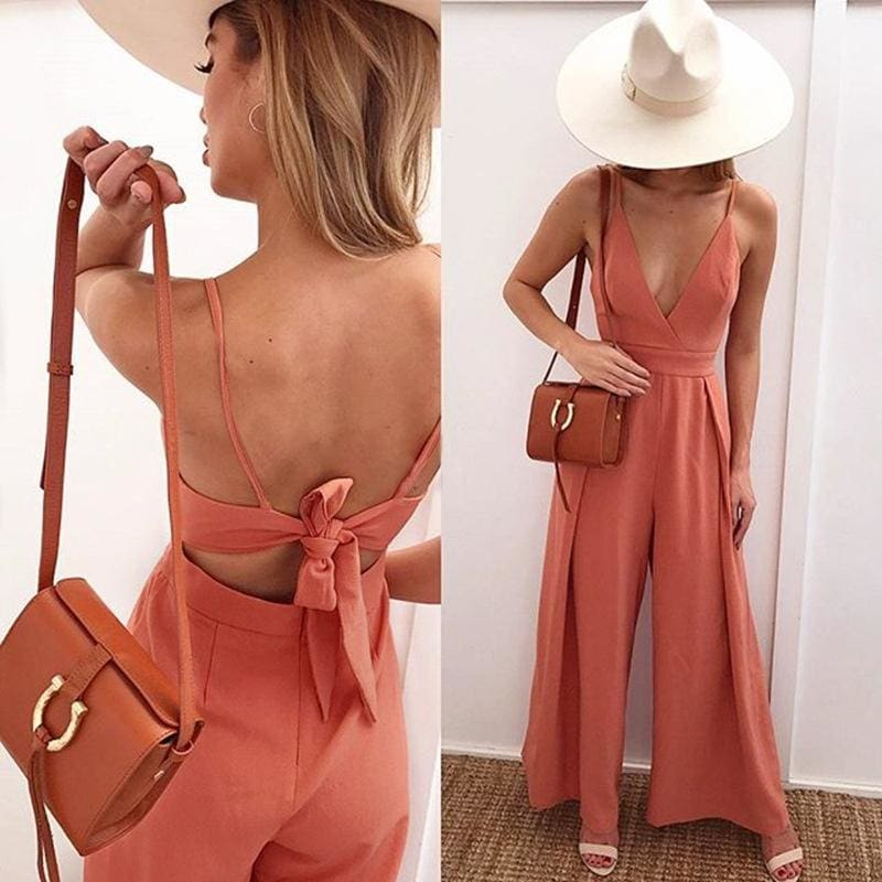 New Women Sexy Halter Sling Jumpsuit