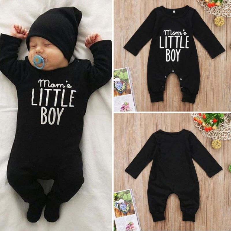 US Newborn Baby Boy Girl Long Sleeve Romper Jumpsuit One-Pieces Warm Clothes Set