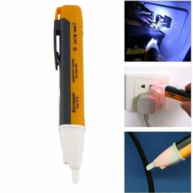 1Pcs Non-Contact LED AC Electric Power Voltage Tester Pen Detector Sensor