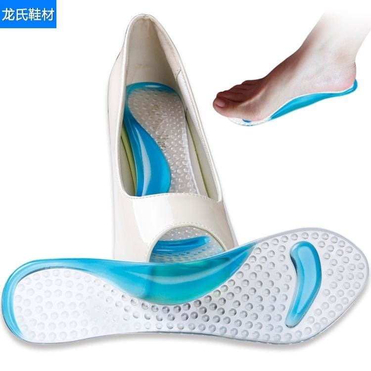 Silicone Gel Front Insole pads Heel Cushion Anti Slip Foot Feet Care Shoe Insert