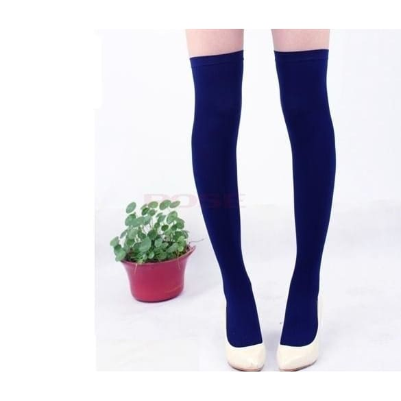 Over The Knee Socks Thigh High Cotton Stockings Thinner 3226 One Size Underwear