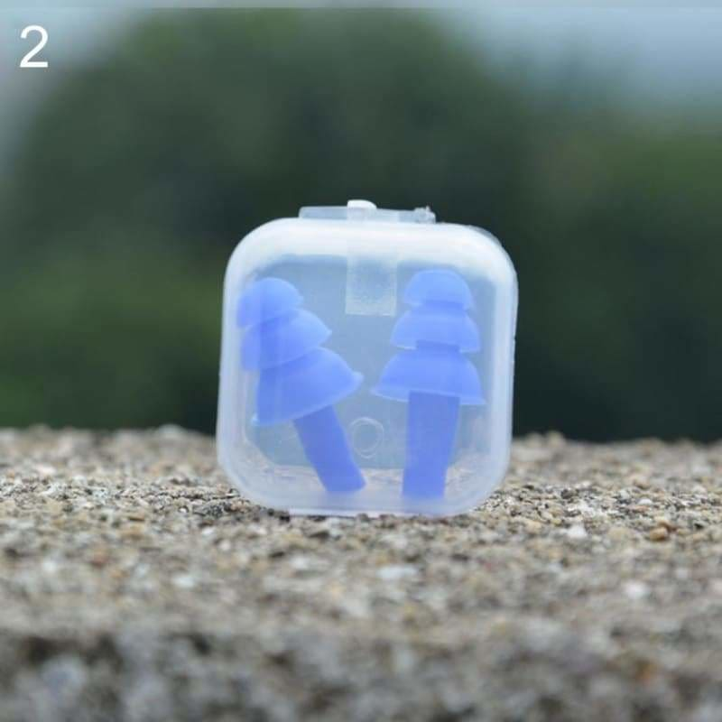 Pair of earplugs swimming motorbike eartips 2pcs earbud - blue
