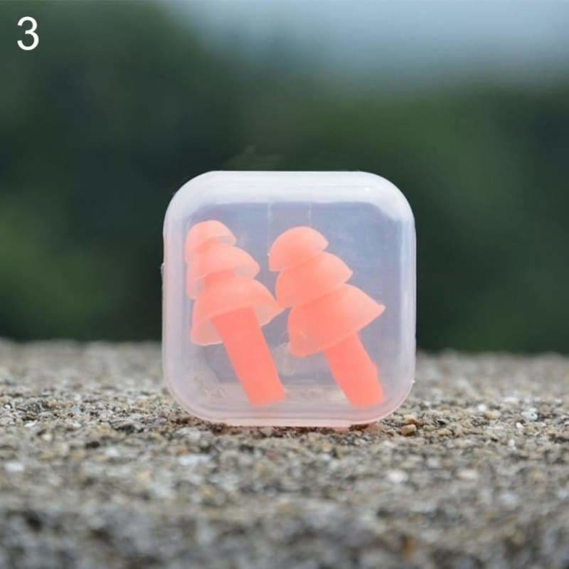 Pair of earplugs swimming motorbike eartips 2pcs earbud - orange