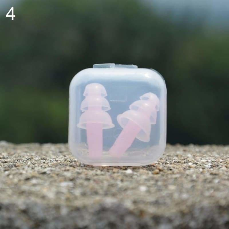 Pair of earplugs swimming motorbike eartips 2pcs earbud - pink