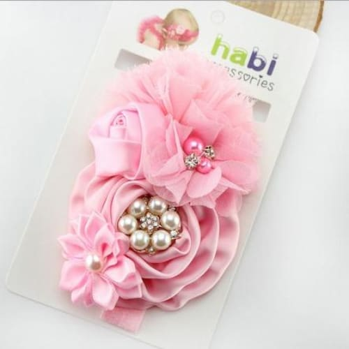 IVORY AND PINK ROSE SKIRT /& HEADWRAP HEADBAND KNOT BOW SET BABY GIRL NEW