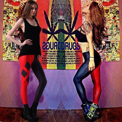 Plus Size New Design Harley Quinn Printed Leggings Gothic Creative Interest Sexy Casual Fitness Women Fashion Pants Suicide Squad Tight