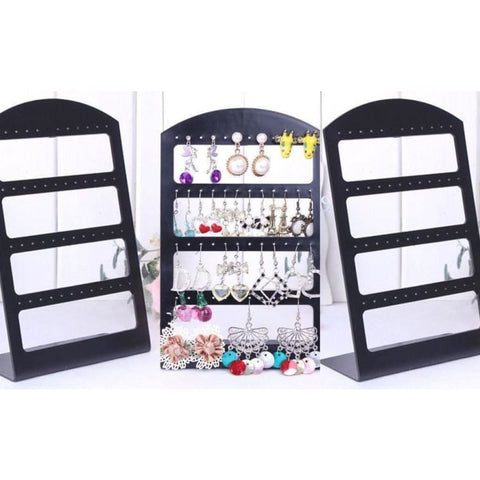 Pretty Fashion Earrings Jewelry Show Display Rack Stand Holder Showcase Beautiful Gadget