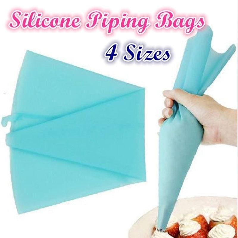 Reusable Silicone Pastry Bag Icing Piping Bags Cream Cake Bake Decorating Tools
