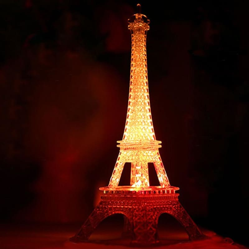 Mini Eiffel Tower LED Color Changing Night Light Home Bedroom Party Lamp Decor T