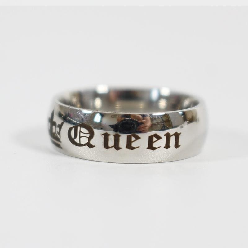 Romantic Sliver Gold Black King And Queen Ring His Amp Hers