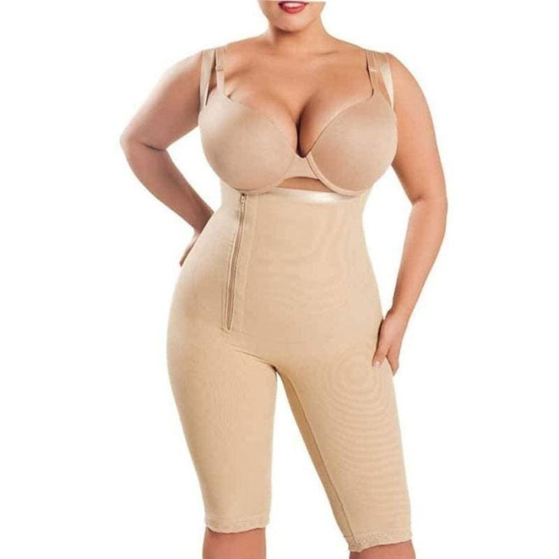 US Slimming Body Shaper for Women Fajas Open Bust Bodysuit with Adjustable Strap