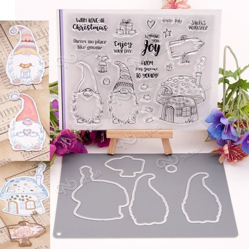 Clear Silicone Stamp /& Metal Cutting Dies For Scrapbooking Album Card DIY Craft
